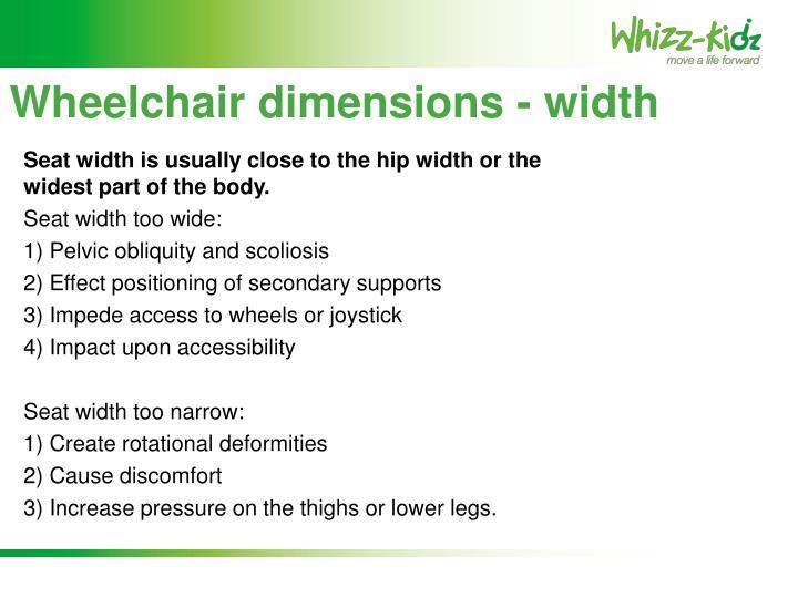 Wheelchair dimensions - width