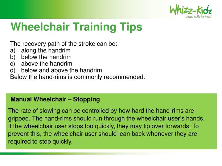 Wheelchair Training