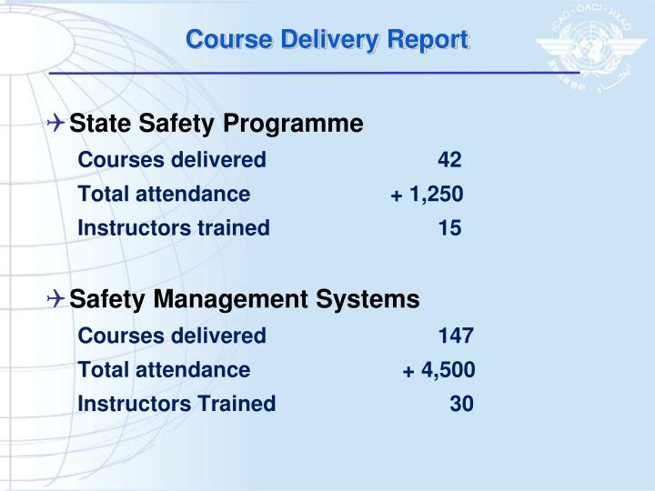 Course Delivery Report