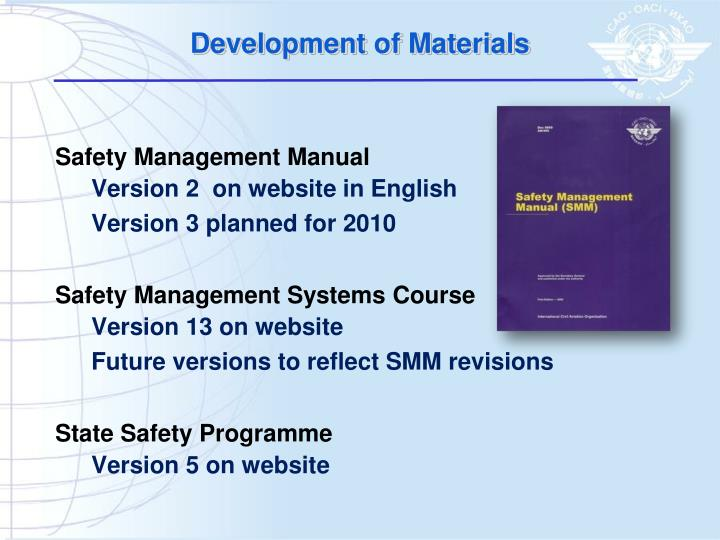 Development of Materials