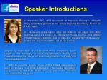 speaker introductions