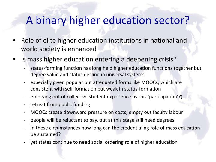 A binary higher education sector?