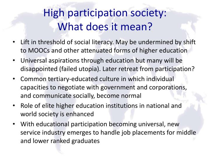 High participation society: