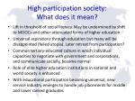 high participation society what does it mean