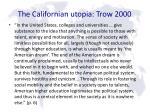 the californian utopia trow 2000