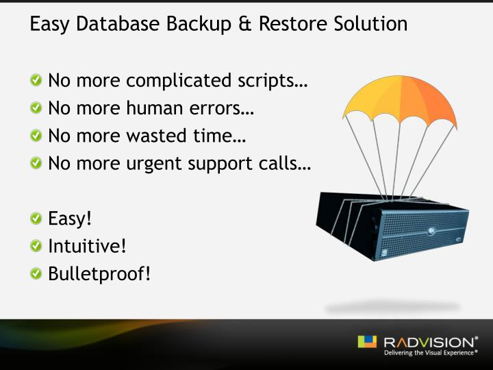 Easy Database Backup & Restore Solution