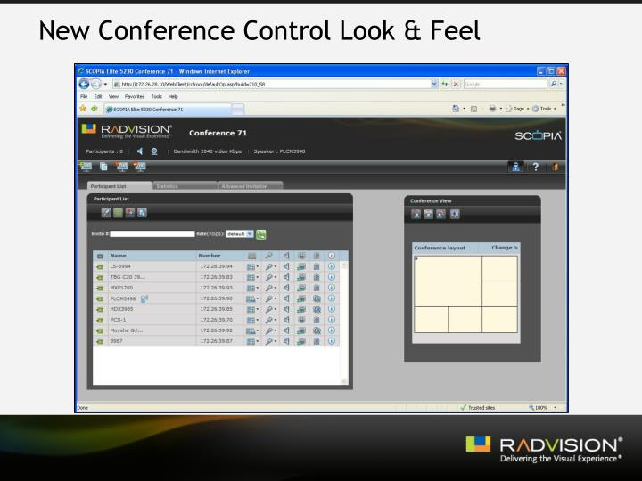 New Conference Control Look & Feel