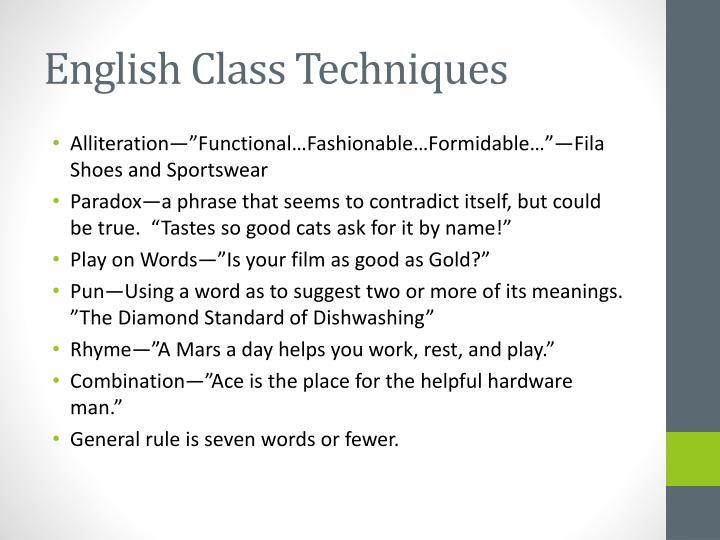 English Class Techniques
