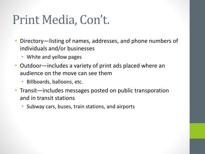Print Media,