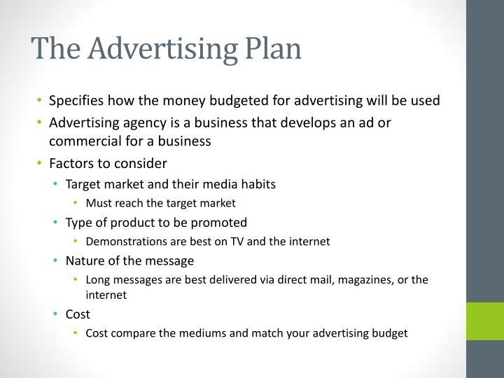 The Advertising Plan