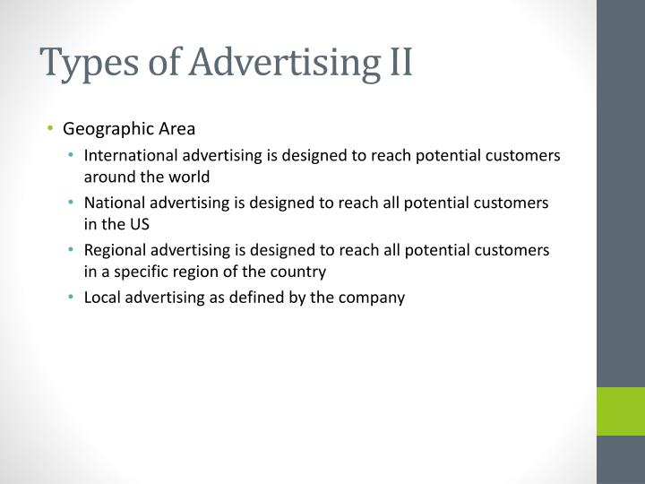 Types of Advertising II