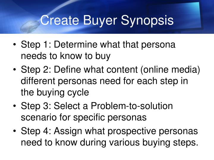 Create Buyer Synopsis