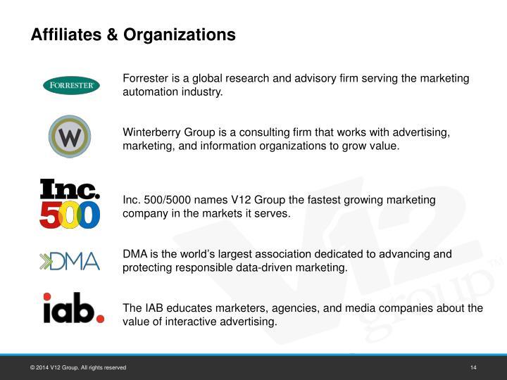 Affiliates & Organizations