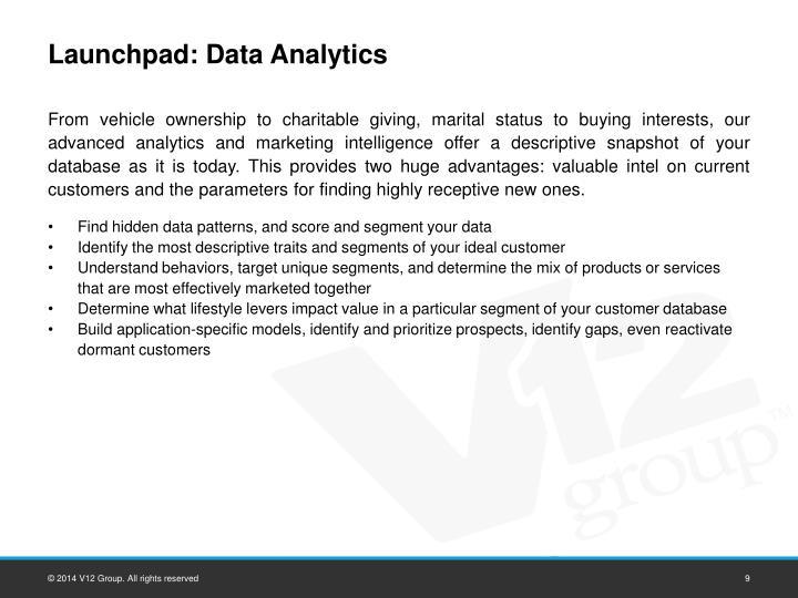 Launchpad: Data Analytics