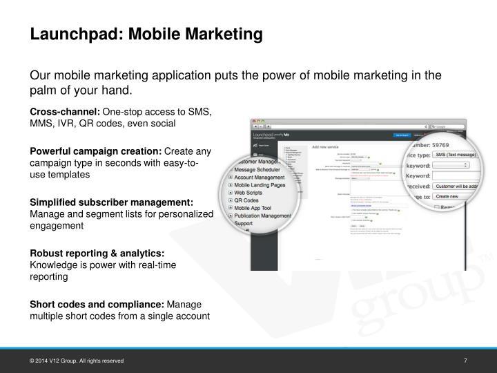 Launchpad: Mobile Marketing