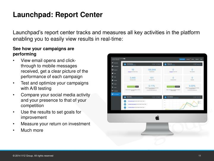 Launchpad: Report Center