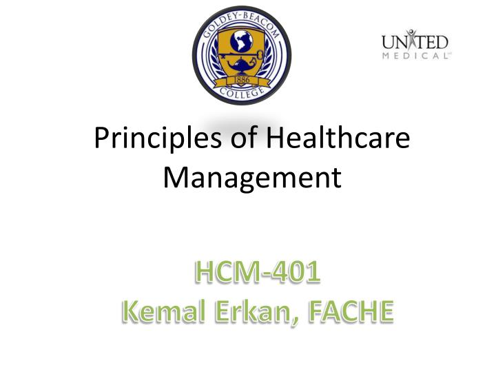 Principles of Healthcare Management