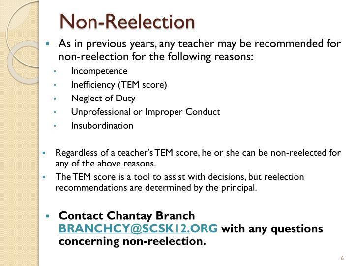 Non-Reelection