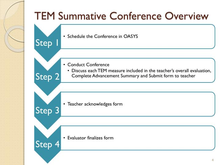 TEM Summative Conference Overview