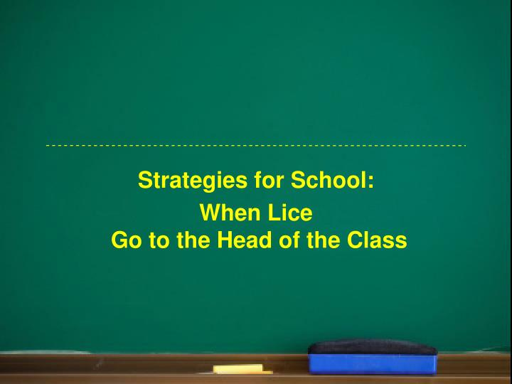 Strategies for School: