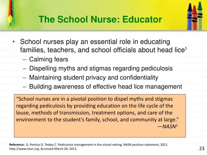 The School Nurse: Educator