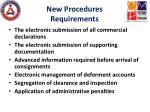 new procedures requirements