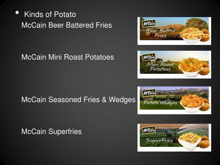 Kinds of Potato