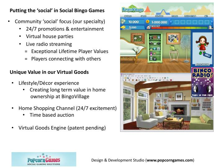 Putting the 'social' in Social Bingo Games