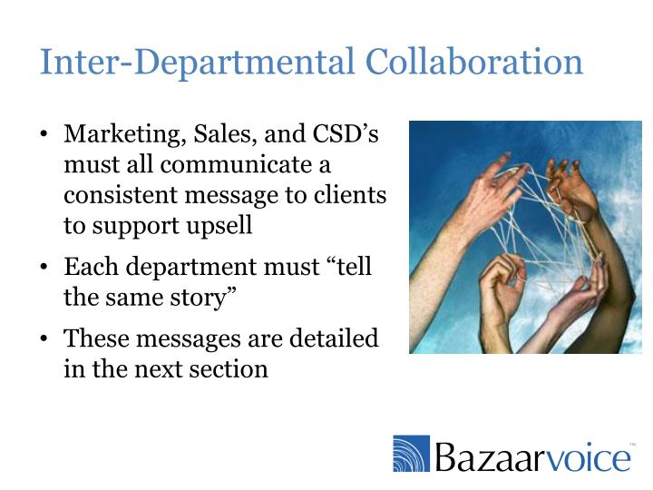 Inter-Departmental Collaboration