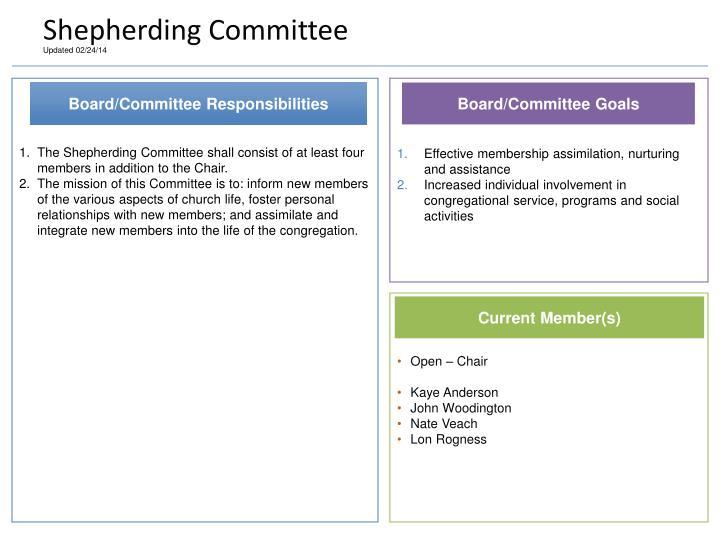 Shepherding Committee