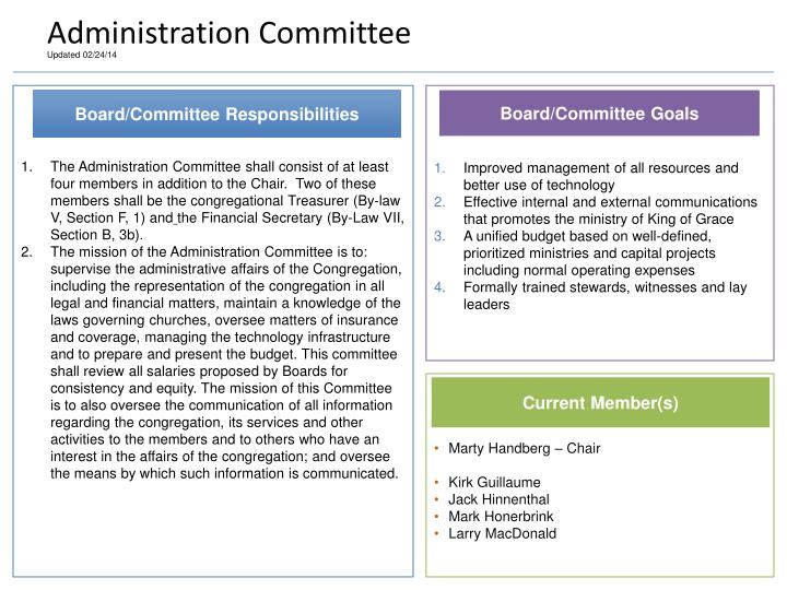 Administration Committee