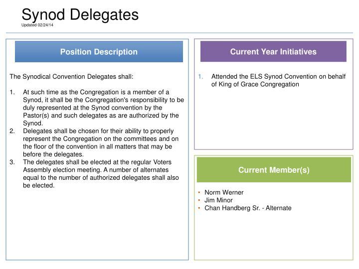 Synod Delegates