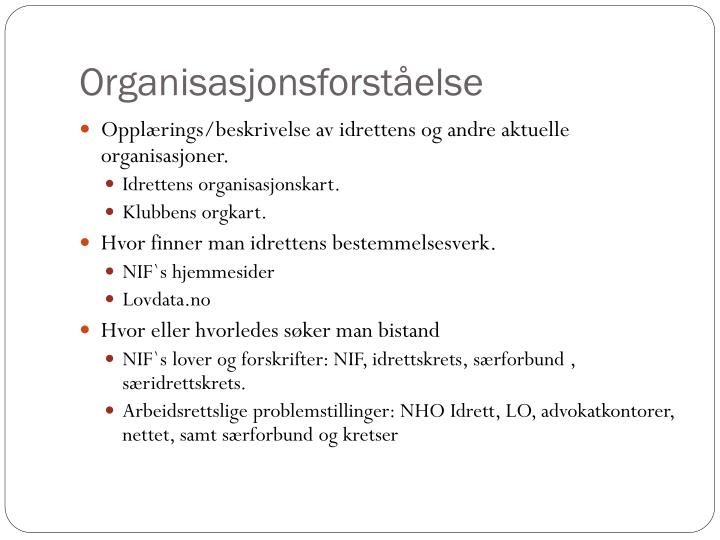 Organisasjonsforståelse