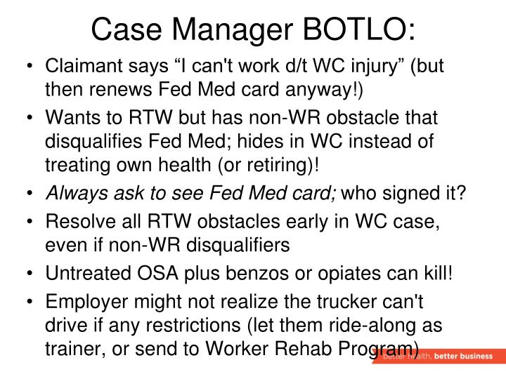 Case Manager BOTLO: