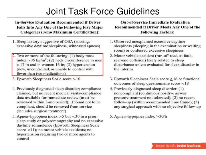 Joint Task Force Guidelines