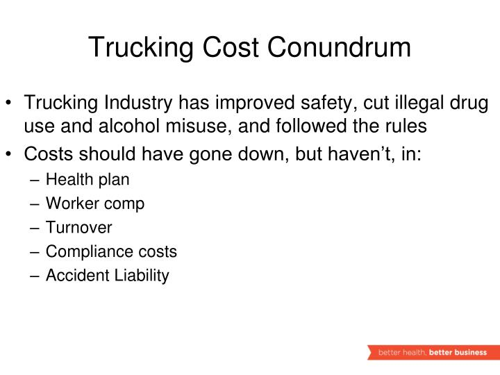 Trucking Cost Conundrum