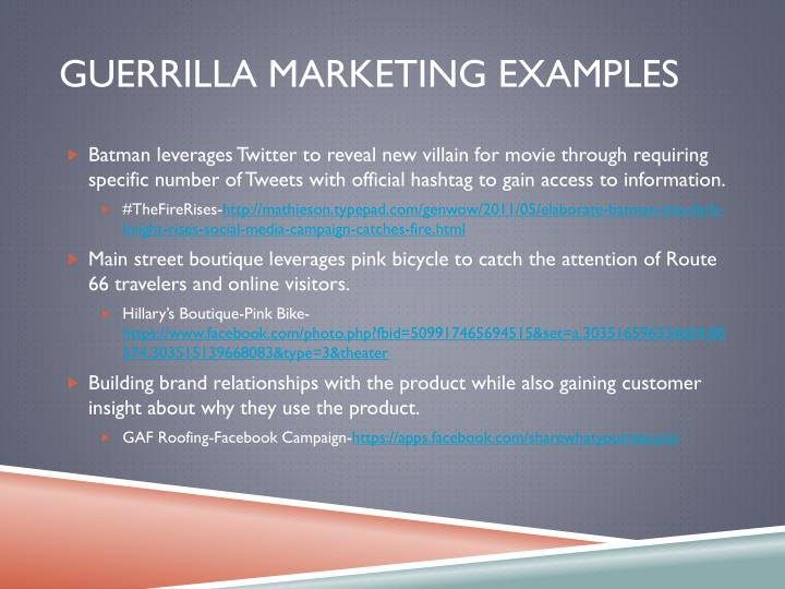 Guerrilla marketing Examples