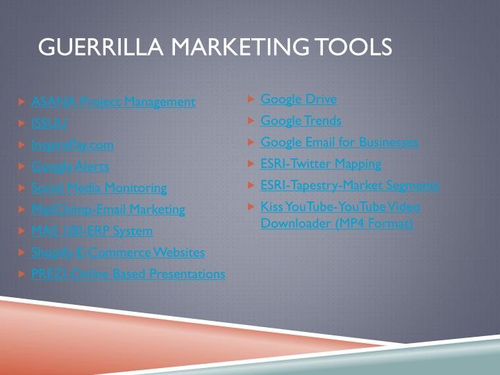 Guerrilla Marketing Tools