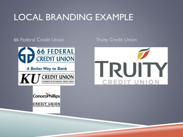 Local Branding Example