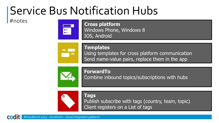 Service Bus Notification Hubs