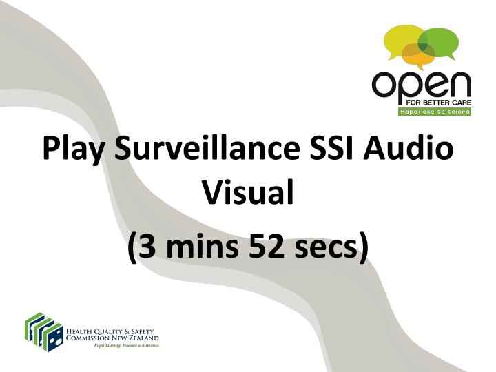 Play Surveillance SSI Audio Visual