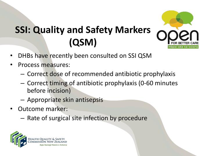 SSI: Quality and Safety Markers (QSM)
