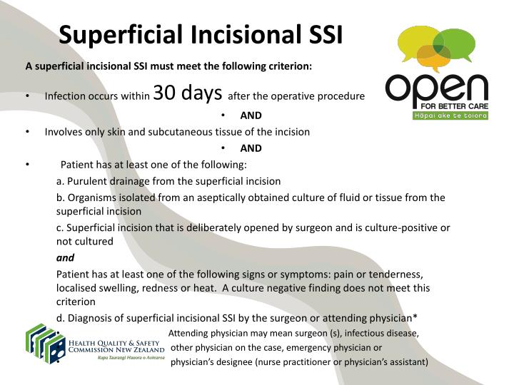 Superficial Incisional SSI