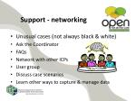 support networking