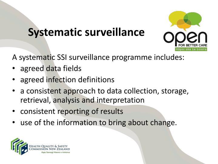 Systematic surveillance