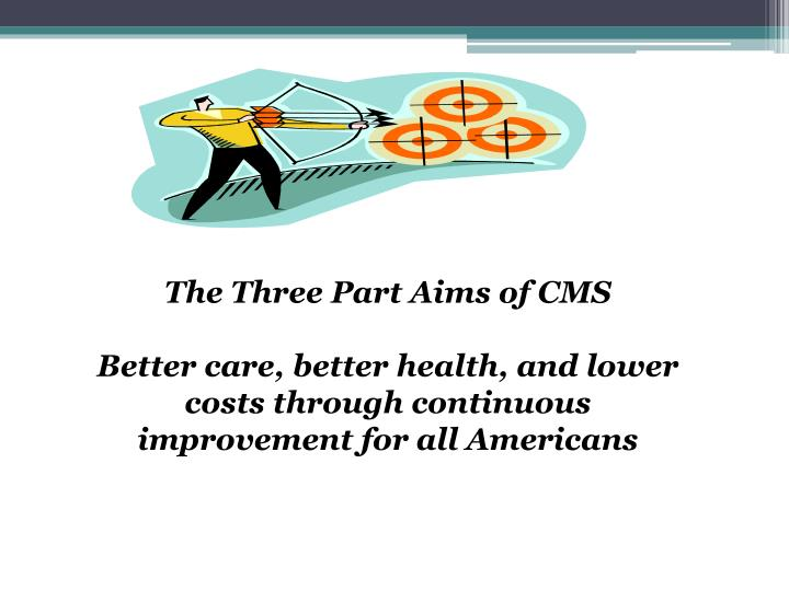 The Three Part Aims of CMS