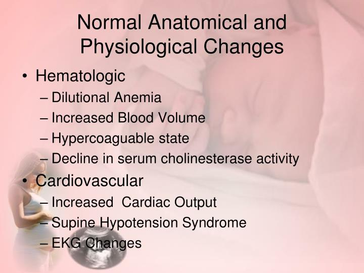 Normal Anatomical and Physiological Changes