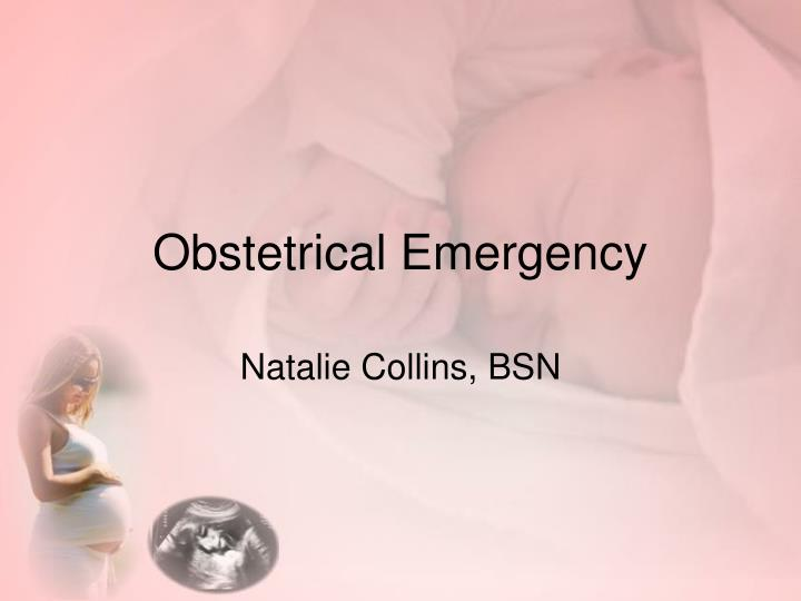 obstetrical emergency