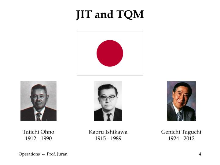 JIT and TQM
