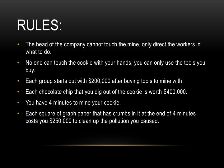 Rules: